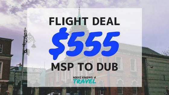 FLIGHT DEAL | MSP to Dublin